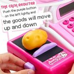 Zantec Jouets pour enfants Caisse de calculatrice de caisse enregistreuse de simulation d'enfants avec le microphone et les sons prétendent jouer des jouets de la marque Zantec image 4 produit