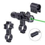 ZENHOX Antichoc 532nm Tactique Lampe de Poche Vert Dot Sight Dot Scope image 3 produit