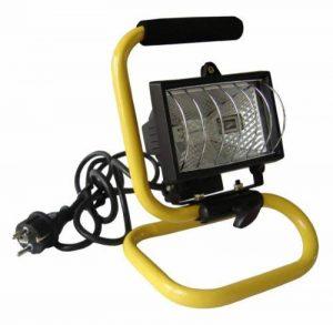 Zenitech - Projecteur Halogène Portatif Étanche IP54 pour Chantier 120W - Livré avec Tube et Poignée de Transport - Noir et Jaune de la marque Zenitech image 0 produit