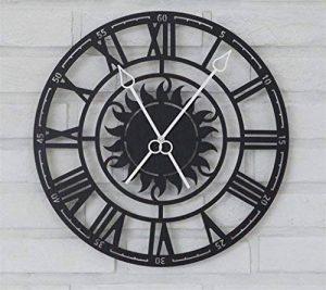 ZHONG Écran Romain européen rétro Horloge Murale Salle de séjour Moderne Horloge créative Personnalité Art Horloge à Quartz Donner des Cadeaux Pas de Batterie de la marque ZHONG image 0 produit