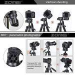 ZOMEIQ111 Caméra Trépied 55 pouces Professional Aluminium Caméscope Stand avec tête Pan et Support de téléphone Support pour Projecteur Gopro DSLR Canon Nikon Sony DV Vidéo et Smartphones Diffusion en direct (Noir) de la marque Zomei image 2 produit