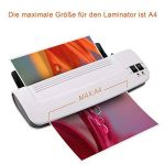zoomyo Plastifieuse A4 OL289 pour une utilisation à la maison ou au bureau | 30 films inclus de la marque Zoomyo image 3 produit