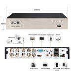 ZOSI 8CH 720P HD DVR Enregistreur Vidéo - 4pcs Caméra Surveillance Extérieure 1500TVL - Vision Nocturne 40m IR - Code QR pour Accès à Distance en 3G/4G/WiFi - PC/Smartphone- sans HDD de la marque ZOSI image 2 produit