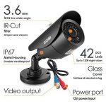 ZOSI 8CH 720P HD DVR Enregistreur Vidéo - 4pcs Caméra Surveillance Extérieure 1500TVL - Vision Nocturne 40m IR - Code QR pour Accès à Distance en 3G/4G/WiFi - PC/Smartphone- sans HDD de la marque ZOSI image 3 produit