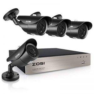 ZOSI 8CH 720P HD DVR Enregistreur Vidéo - 4pcs Caméra Surveillance Extérieure 1500TVL - Vision Nocturne 40m IR - Code QR pour Accès à Distance en 3G/4G/WiFi - PC/Smartphone- sans HDD de la marque ZOSI image 0 produit