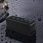 Zoweetek® Enceinte Bluetooth Stéréo V4.0 Haut-Parleur NFC Technology, silicone pour Etanche Anti-Poussière, Résistant aux Chocs, Echo Dot avez Amplis Basse kit mains libres intégré pour iPhone, iPad, Tablettes, Samsung, HTC, PSP etc de la marque Zoweetek image 1 produit